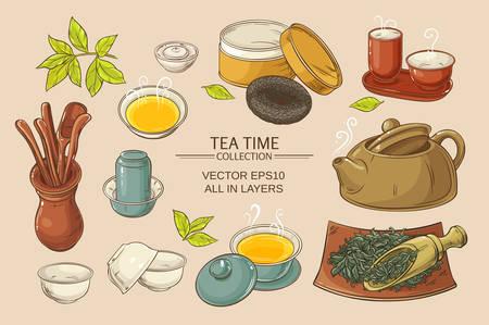 茶道のベクトルを背景色に設定