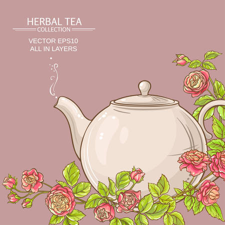 rose tea vector background