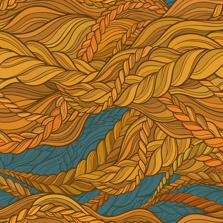 tresse couleur de cheveux pattern sur fond de couleur
