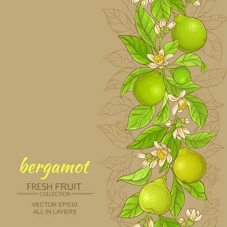 bergamot vector background
