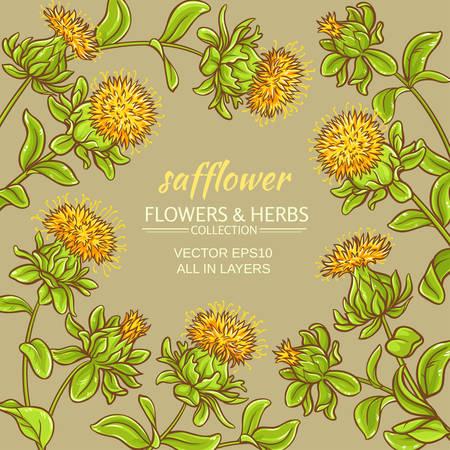safflower vector frame