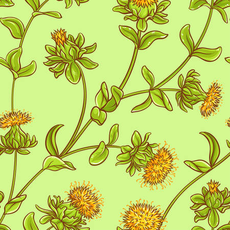 safflower seamless pattern Illustration
