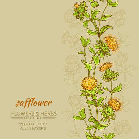 safflower color background Stock Photo