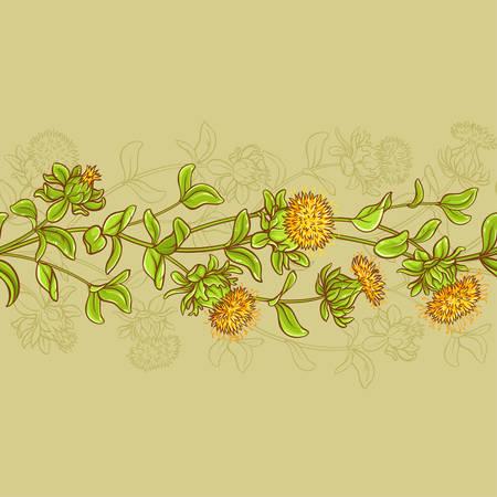 safflower seamless pattern 矢量图像