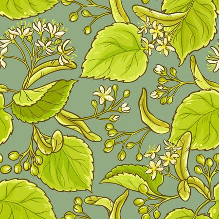 リンデン色の背景上のシームレスなパターンのベクトル  イラスト・ベクター素材