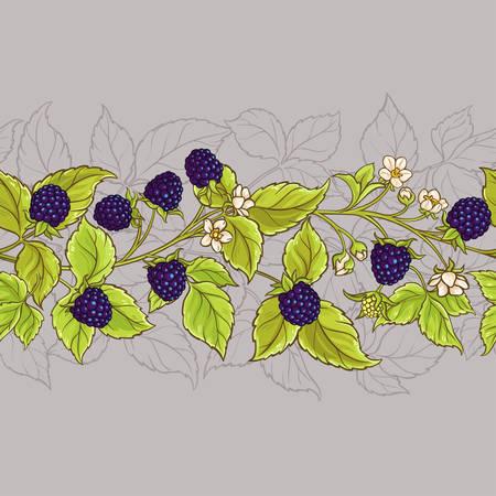 blackberry seamless pattern Ilustração