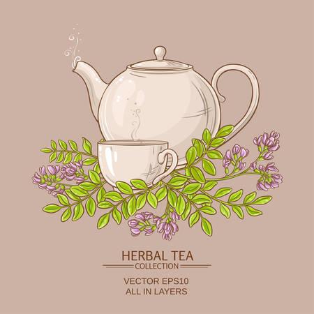 Astragalus tea illustration Ilustrace