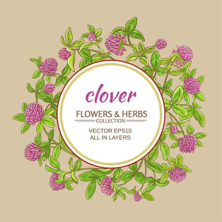 Clover vector frame
