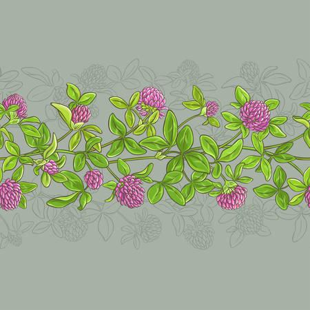 Clover vector pattern. Illustration