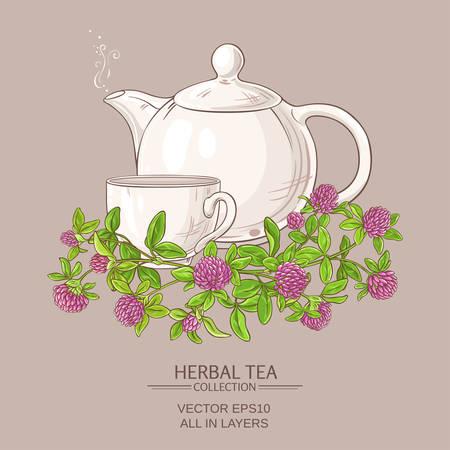 Clover tea illustration