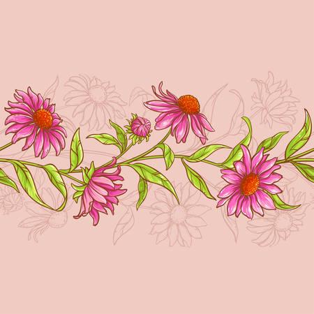 Echinacea purpurea Muster Standard-Bild - 76439942