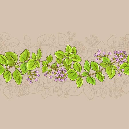 オレガノ ベクトル パターン  イラスト・ベクター素材