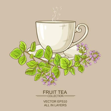 Cup of oregano tea Stok Fotoğraf - 79736003