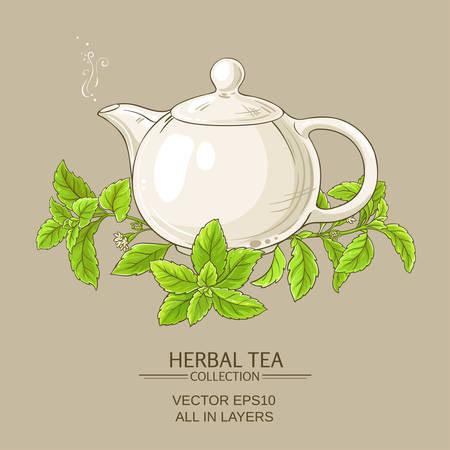 Stevia tea illustration Иллюстрация