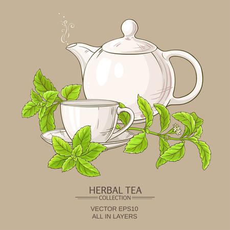 stevia tea illustration