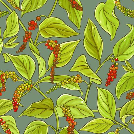 Black ground pepper vector pattern on color background