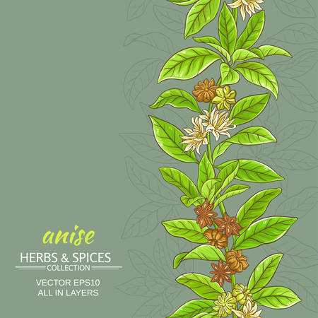 anise vector background