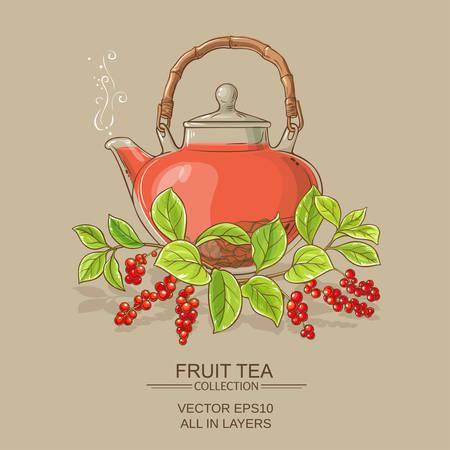 schisandra tea illustration Illustration
