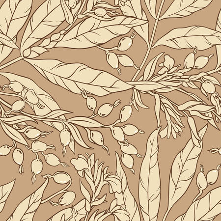 Cardamom branches repetitive pattern.