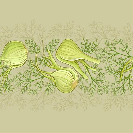 Fenchel-Vektor-Muster Vektorgrafik