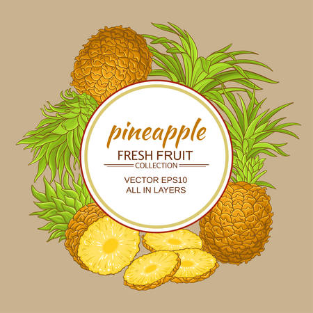 pineapple vector frame Иллюстрация