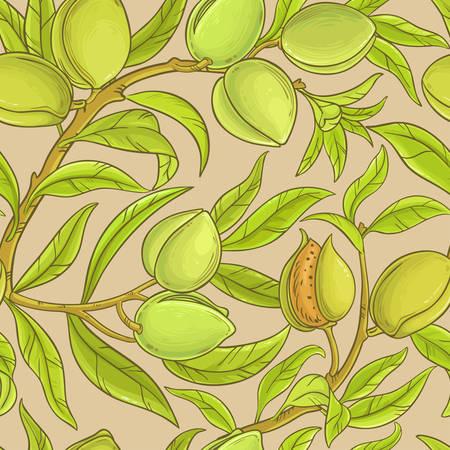 almond vector pattern