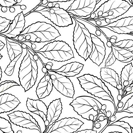 yerba mate seamless pattern Illustration