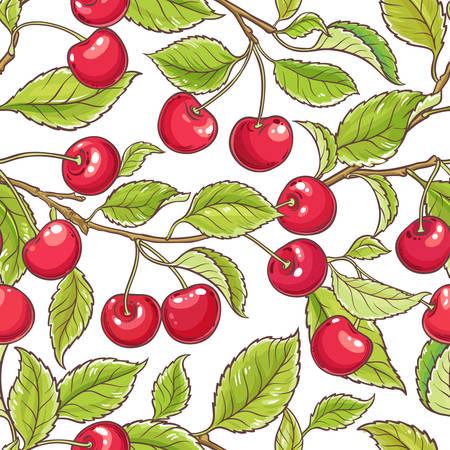 Cherry branch vector pattern