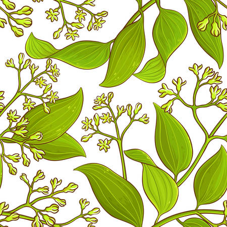 Clover branch vector pattern Illustration