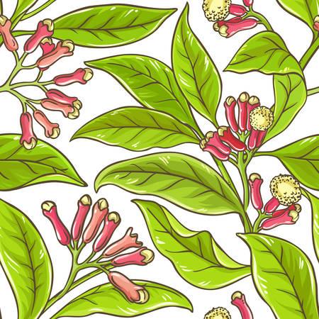 Clover branch vector pattern Illustration