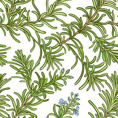 Rosemary branch vector pattern Vettoriali