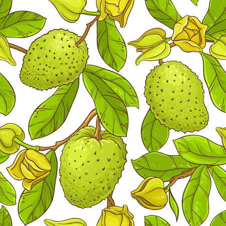 Soursop vector pattern Illustration