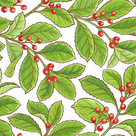 Yerba mate vector pattern Illustration