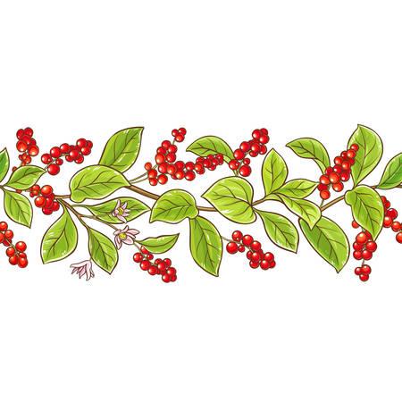 Schisandra branch vector pattern.