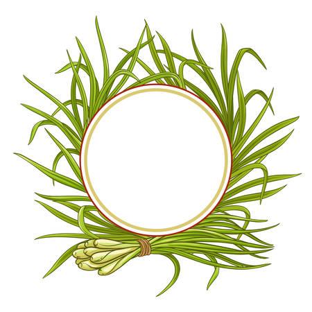 lemongrass plant vector frame