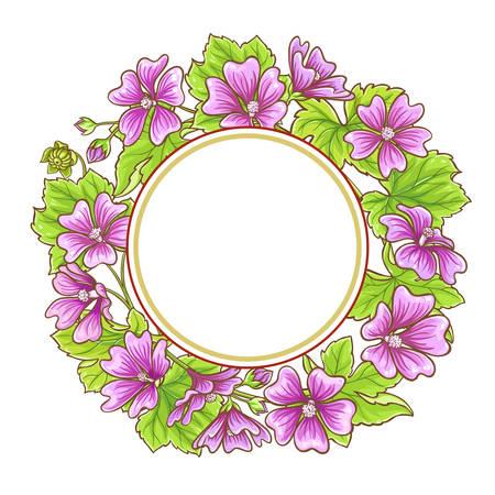 malva vector frame Ilustração