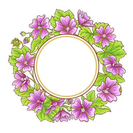 malva vector frame Illustration