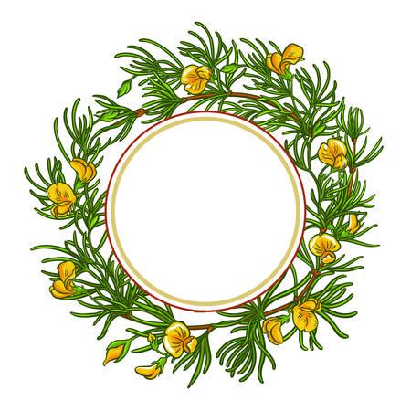 rooibos branch vector frame