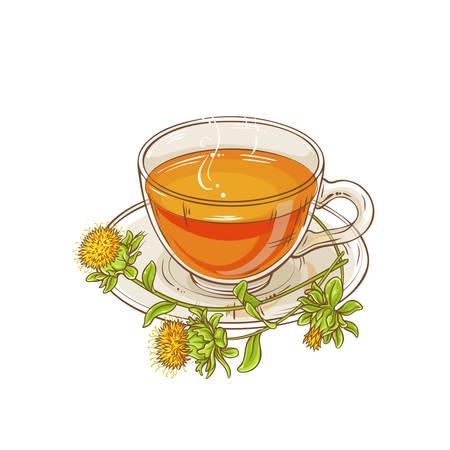 safflower tea illustration