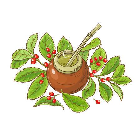 stuurman thee vectorillustratie