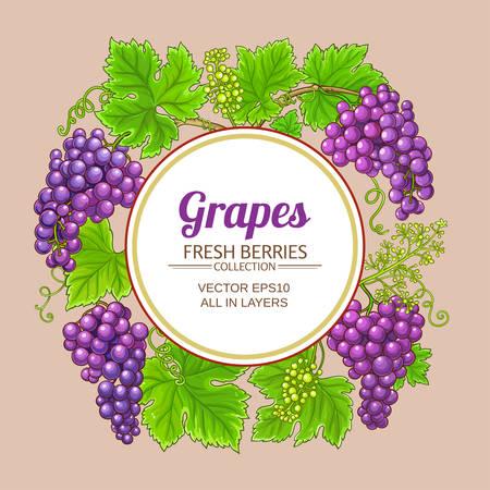 grapes vector frame