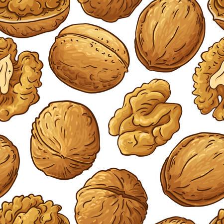 walnut vector pattern
