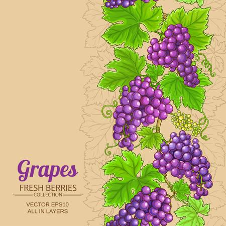 grapes vector pattern Иллюстрация