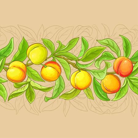 peach vector pattern Ilustração