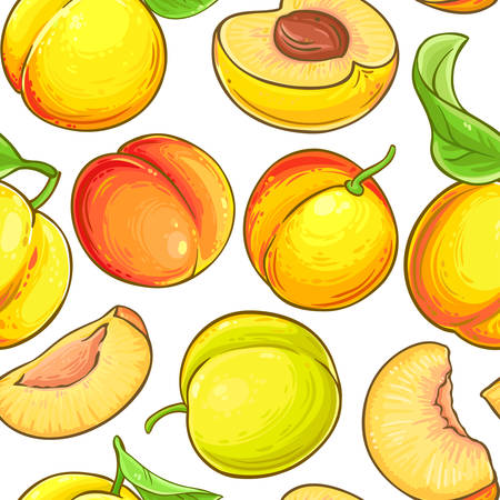 peach vector pattern on white background