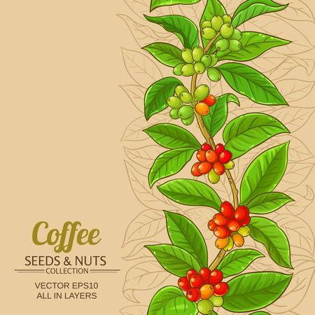 coffee vector pattern on color background