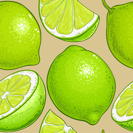 lime vector pattern on color background Ilustrace