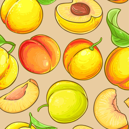 peach vector pattern on color background Reklamní fotografie - 125091790