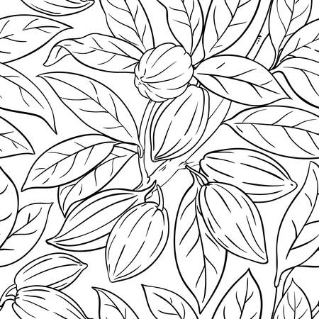 cocoa vector pattern on white background Illustration