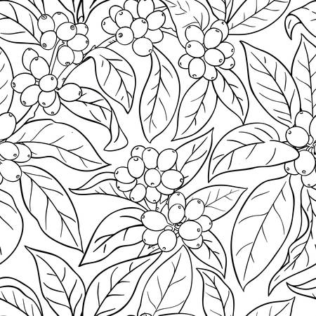 coffee vector pattern on whte background